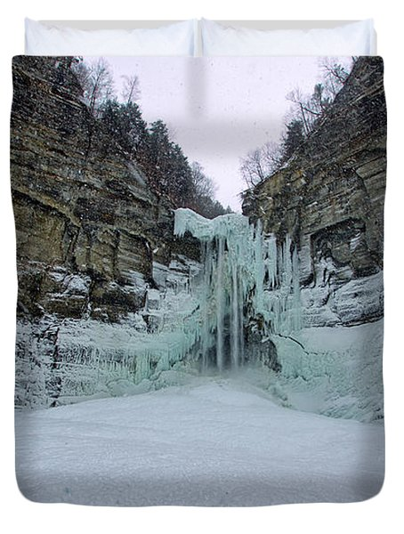Frozen Waterfalls Duvet Cover