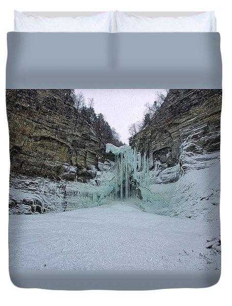 Frozen Waterfalls Duvet Cover