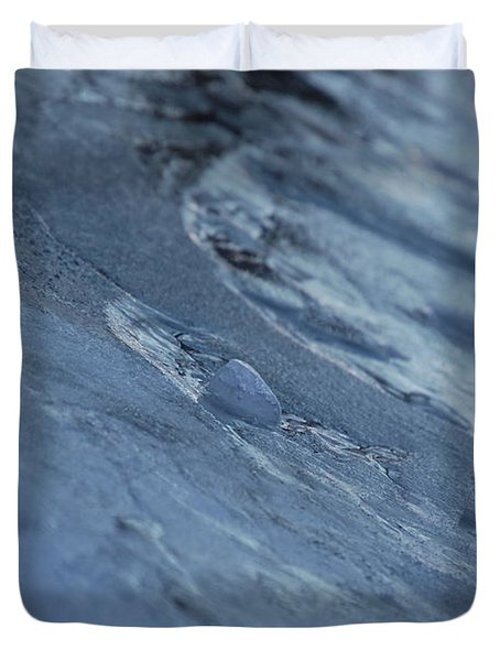 Duvet Cover featuring the photograph Frozen Wave by First Star Art