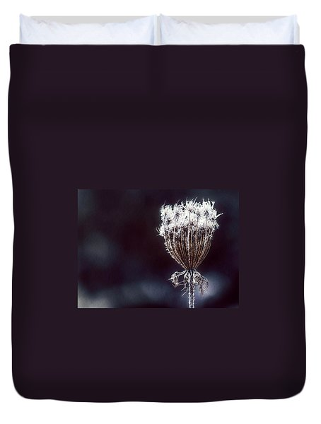 Duvet Cover featuring the photograph Frozen Wisps by Melanie Lankford Photography