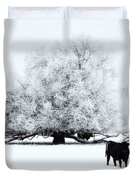 Frozen World Duvet Cover by Mike  Dawson