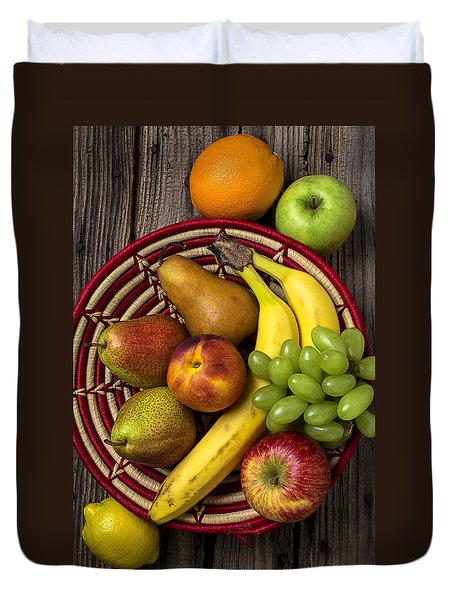 Fruit Basket Duvet Cover by Garry Gay
