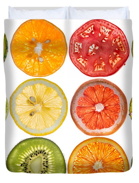 Fruit Market Duvet Cover by Steve Gadomski