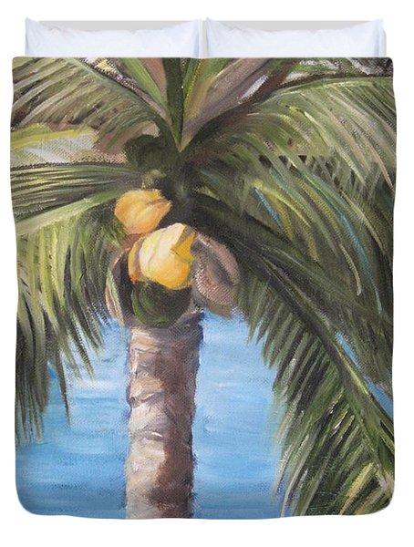 Fruit Of The Palm Duvet Cover