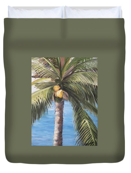 Fruit Of The Palm Duvet Cover