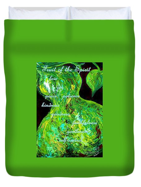 Fruit Of The Spirit Duvet Cover by Eloise Schneider
