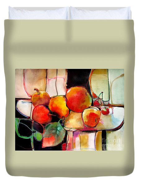 Fruit On A Dish Duvet Cover