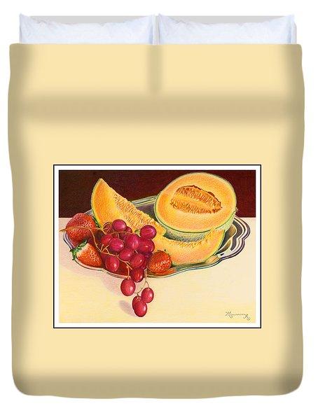 Fruit Platter Duvet Cover by Mariarosa Rockefeller