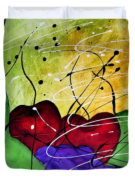 Fruit Salad 1 Still Life Painting By Saribelle Duvet Cover by Saribelle Rodriguez