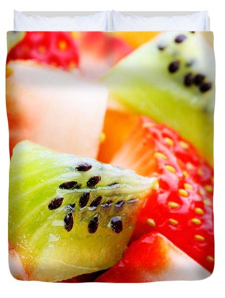 Fruit Salad Macro Duvet Cover