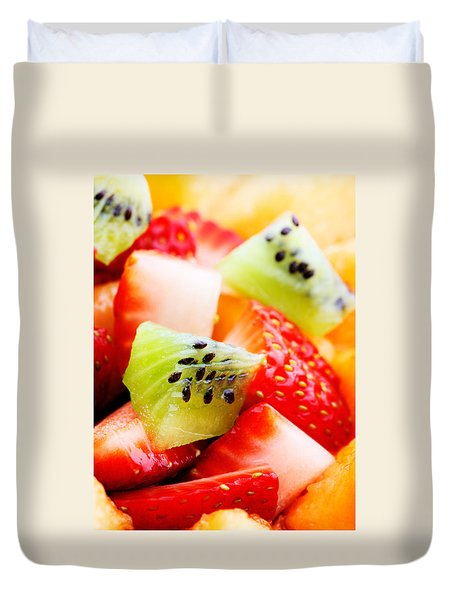 Fruit Salad Macro Duvet Cover by Johan Swanepoel