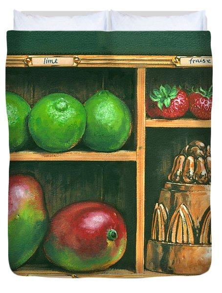 Fruit Shelf Duvet Cover