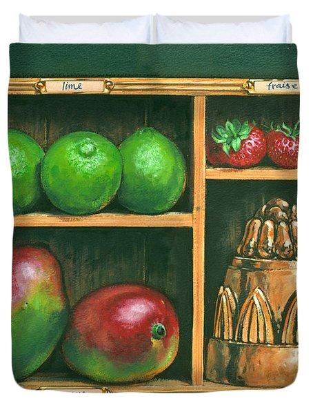 Fruit Shelf Duvet Cover by Brian James