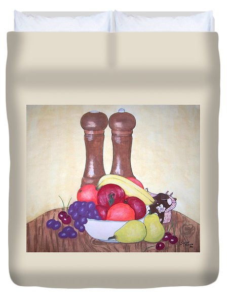 Fruit Table Duvet Cover