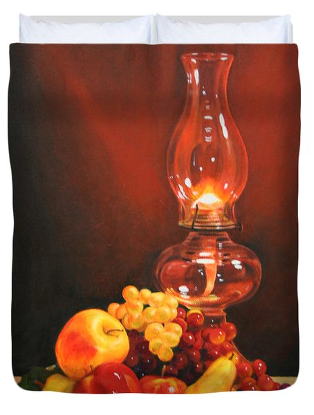 Fruit Under Lamp Light Duvet Cover
