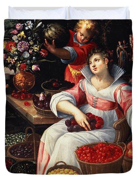 Fruitmarket Summer, 1590 Duvet Cover