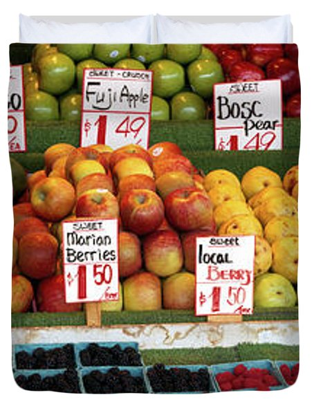 Fruits At A Market Stall, Pike Place Duvet Cover