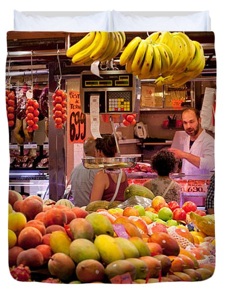 Fruits At Market Stalls, La Boqueria Duvet Cover