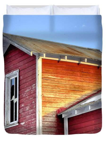 Ft Collins Barn 13502 Duvet Cover by Jerry Sodorff