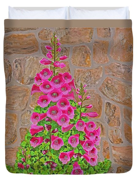 Fuchsia Profusion Duvet Cover by Donna  Manaraze