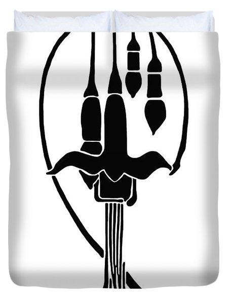 Fuchsia Stencil Art Duvet Cover by Karon Melillo DeVega