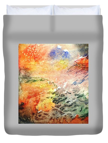 Fugitive Heat Duvet Cover by Trudi Doyle