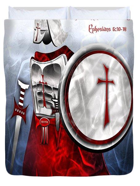 Full Armor Of God Duvet Cover