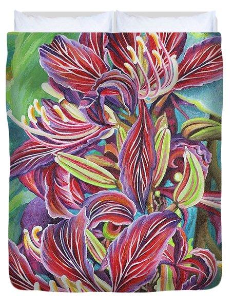 Full Blossom Orchid Tree Duvet Cover