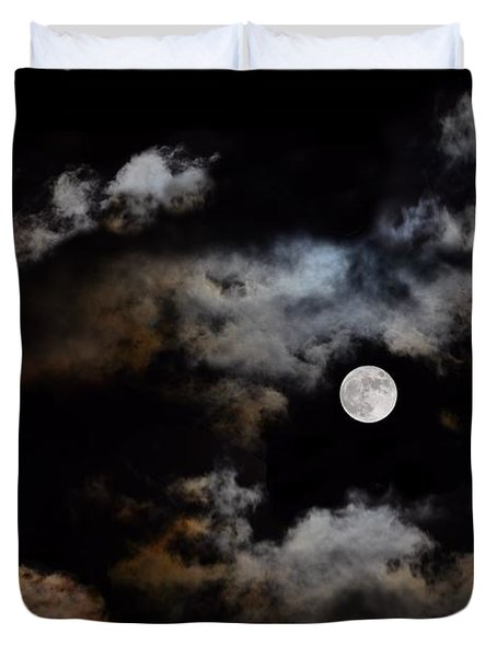 Full Moon After The Storm Duvet Cover