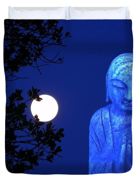 Full Moon Buddha Duvet Cover