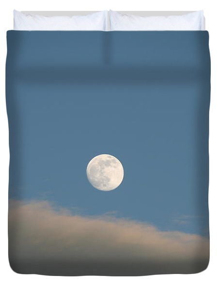 Duvet Cover featuring the photograph Full Moon by David S Reynolds