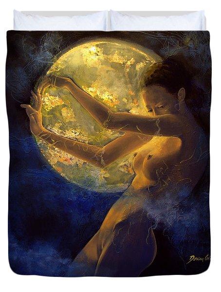 Full Moon Duvet Cover by Dorina  Costras