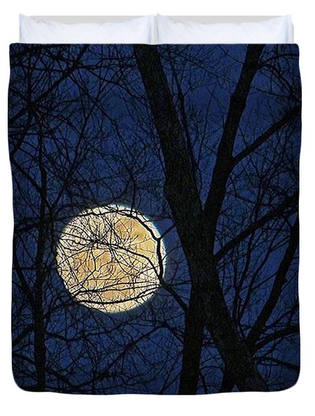 Full Moon March 15 2014 Duvet Cover