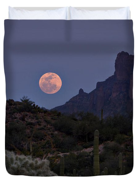 Full Moon Rising  Duvet Cover by Saija  Lehtonen