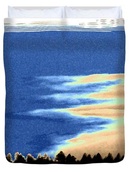Full Moon Rising Duvet Cover by Will Borden