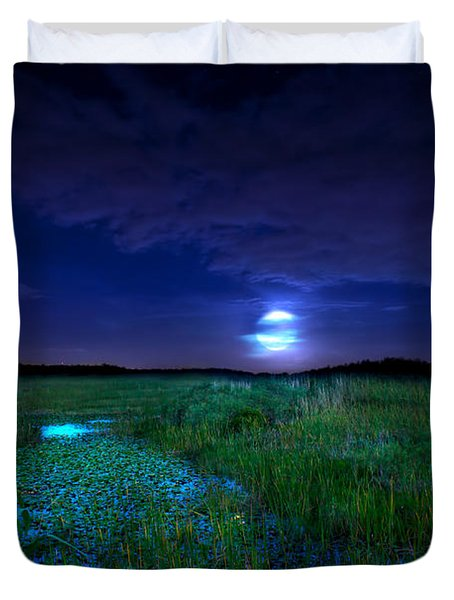 Full Moons And Fireflies Duvet Cover