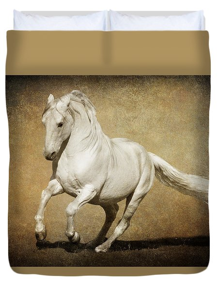 Duvet Cover featuring the photograph Full Steam Ahead by Wes and Dotty Weber