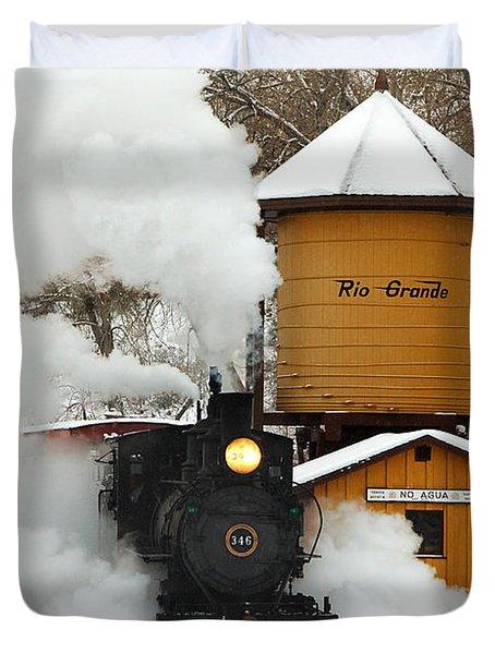 Full Steam Ahead Duvet Cover by Ken Smith