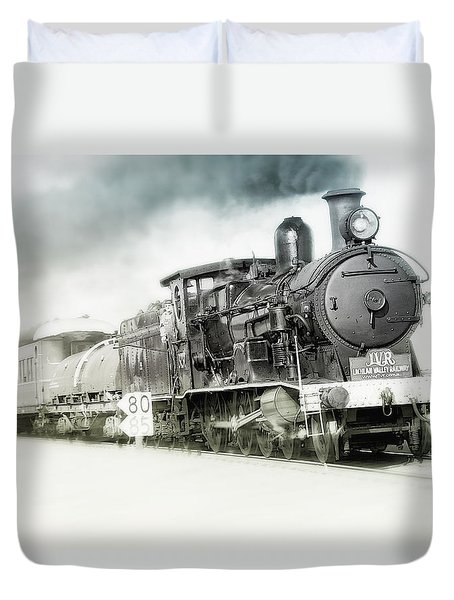Duvet Cover featuring the photograph Full Steam Ahead by Kevin Chippindall