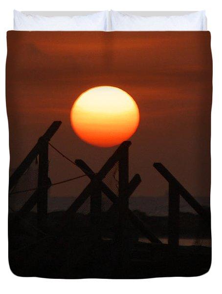 Duvet Cover featuring the photograph Full Sun by Leticia Latocki
