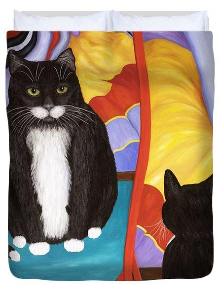 Fun House Fat Cat Duvet Cover