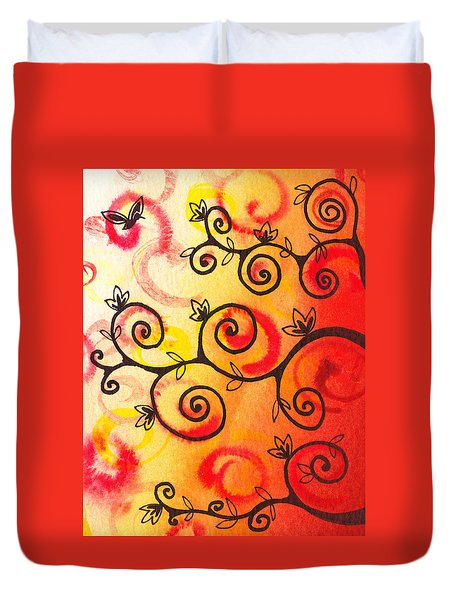 Fun Tree Of Life Impression I Duvet Cover by Irina Sztukowski