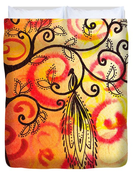 Fun Tree Of Life Impression II Duvet Cover