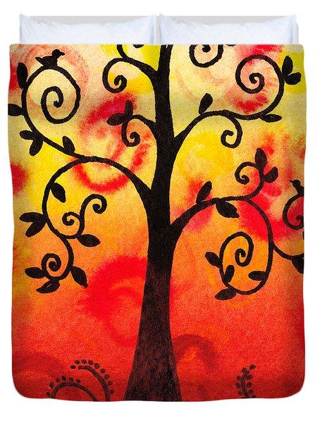 Fun Tree Of Life Impression IIi Duvet Cover