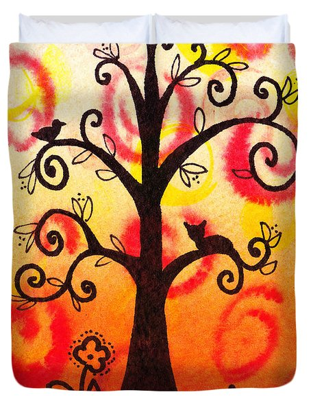 Fun Tree Of Life Impression V Duvet Cover