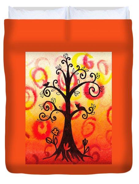 Fun Tree Of Life Impression V Duvet Cover by Irina Sztukowski