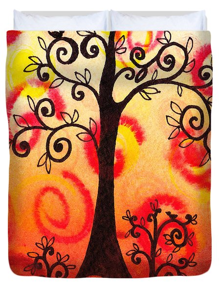 Fun Tree Of Life Impression Vi Duvet Cover