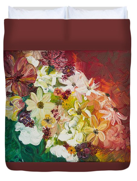 Fun With Flowers Duvet Cover