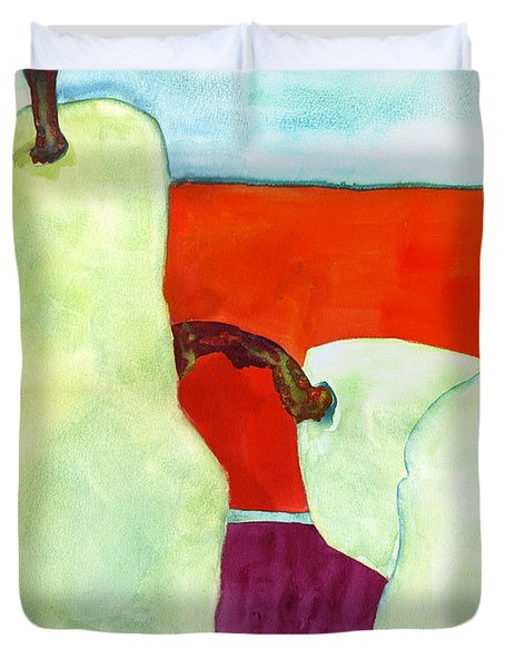 Fundamental Pears Still Life Duvet Cover by Blenda Studio