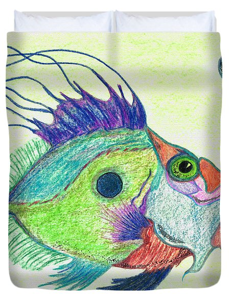 Funky Fish Art - By Sharon Cummings Duvet Cover